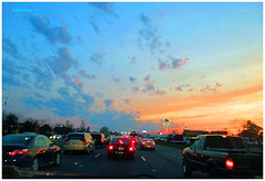 IMG_7252_Sunset_Highway_VA2016 (Stephenie DeKouadio) Tags: canon photography outdoor sunset painting virginia highway art artistic color colour colorful dusk sky