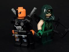 Wilson and Queen (MrKjito) Tags: lego minifig dc comics comic green arrow deathstroke slade wilson oliver queen cw suepr hero villain mercenary