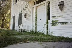 (SouthernHippie) Tags: frontporch ivy vines overgrown abandoned abandonment alabama al americana architecture antebellum sad nature natural moody mansion michellesummersphotography white tree green old outside outdoors rural ruin decay south southern plantationhouse wow door forgotten