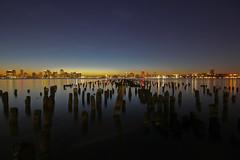 Jersey City Skyline at Sunset (Explore) (Geraint Rowland Photography) Tags: longexposure travel autumn sunset usa newyork water america canon reflections river jerseycity unitedstates manhattan manhattanskyline 2010 geraintrowland geezaweezer