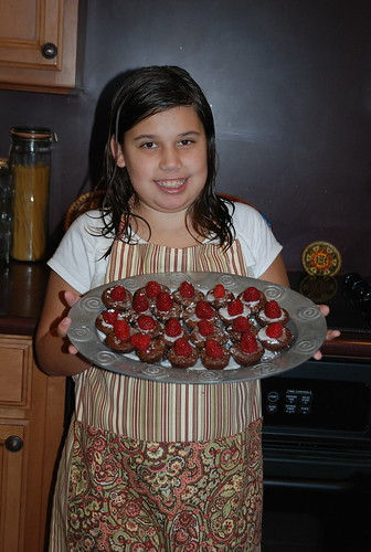 raspberry brownies by violet
