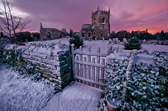 St Mary's Dawn (wilsonaxpe) Tags: nottingham winter cross stmarys freshsnow colstonbassett