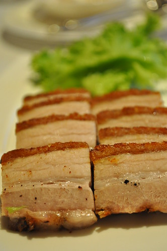 appetizer of roast pork