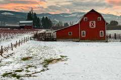 Runner up (Lance Rudge) Tags: winter sunset snow oregon barn nikon hoodriver d3 lancerudge