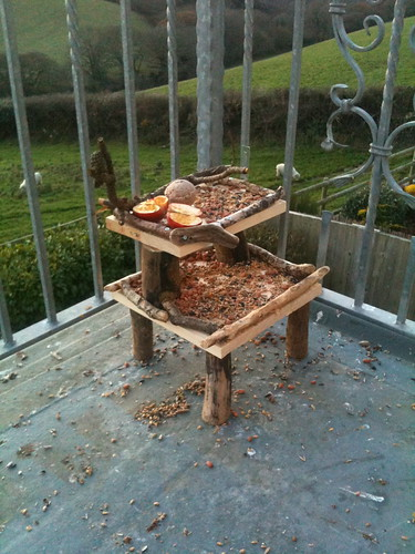 Double Decker Bird Feeder Table