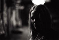 (Benjamin Skanke) Tags: bw white black film girl 35mm dark 50mm md fuji minolta f14 11 1600 neopan xd rokkor