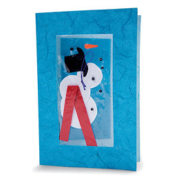 DIY Snowman Card (Courtesy Family Fun Magazine)
