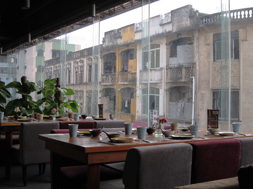 View from the swanky sushi place in Tai Shan, day 29