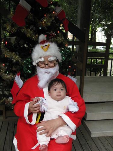 Hannah and Taiwanese Santa 2008