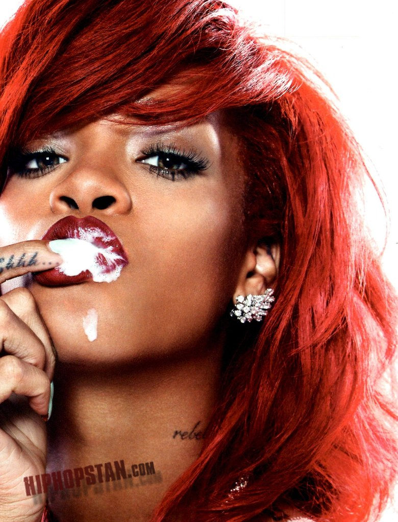 rihanna cum on lip picture