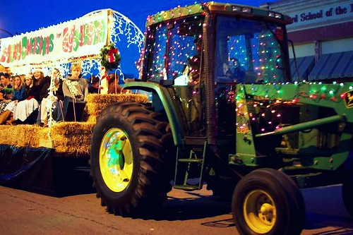 tractor with lights