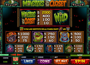free Monsters In The Closet slot mini symbol