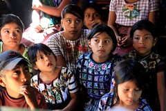 Tz'utuhil Maya children with huipil (traje) in Panabaj, Guatemala (eriktorner) Tags: christmas school girls party maya guatemala class atitlan traje huipil panabaj tzutuhil