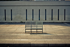 Pudong chair (Jimmy Whippet) Tags: china street chair shanghai nobody noon pudong midday