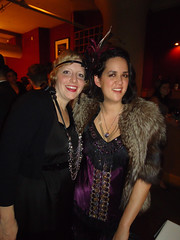 Flapper party (kraftykym) Tags: fur beads dress feathers fringe flapper jewels remake