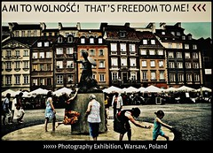 [ THAT'S FREEDOM TO ME! - Outdoor Photography Exhibition ] Wonderful and creative in Warsaw, Poland (|| UggBoyUggGirl || PHOTO || WORLD || TRAVEL ||) Tags: windows winter people sun white snow castle art history ice glass facade airplane tv soap airport bath dish capital hauptstadt lot poland exhibition architectural renault urbanart more architect polen deli warsaw vodka hyatt belvedere chopin oldtown runway coupe irishpub aerlingus warszawa delicatessen terminal2 warschau miasto hyattregency sirnormanfoster renaultlaguna lordfoster historicarchitecture clublounge monacogp irishlove polishairlines regencyclub irishpride hyattregencywarsaw stoeczne irishluck chopinairport belwederska regencysuite smilesahead warsawcastle diplomaticdistrict regencykingsuite kinocultura thatsfreedomtome