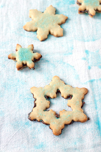 Mint-Chocolate Bottom Shortbread Cookies