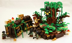 Axe (Bart De Dobbelaer) Tags: tree castle lego witch fantasy axe vignette minion witchsquest