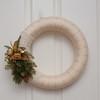 Yarn Wreath (HelenPalsson) Tags: wreath 2010 christmaswreath yarnwreath 201012 20101208