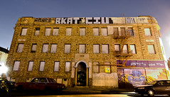 Bobkat Civ (TheHarshTruthOfTheCameraEye) Tags: night graffiti oakland long exposure shot bobcat civ ftl bobkat bkat