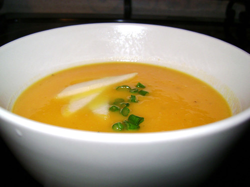 Ginger, Pear and Sweet Potato Soup