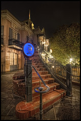 Stairway to Dreams (Gregg L Cooper) Tags: night dark disneyland nik neworleanssquare waltdisney topaz photomatix dreamsuite nighthdr eos7d canoneos7d