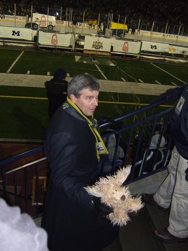 David Brandon and a dog