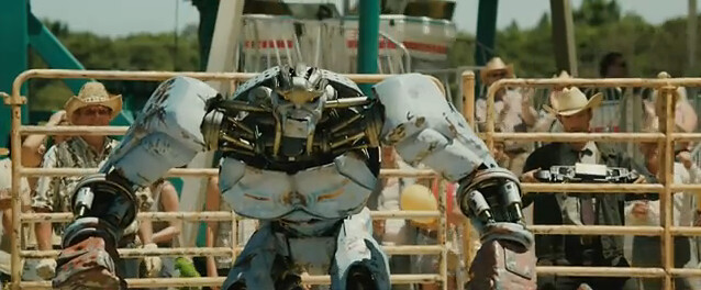 hugh jackman in Real Steel movie