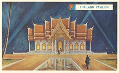 Thailand Pavilion - New York World's Fair 1964-65 (The Cardboard America Archives) Tags: newyork vintage thailand postcard pavilion worldsfair 1964 1965