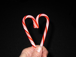 1 Candy Cane + 1 Candy Cane = 1 Heart