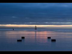 Paddle, Crosby beach, Explore Frontpage (Ianmoran1970) Tags: blue sunset beach river explore frontpage mersey explored buoyant crobsy ianmoran ianmoran1970