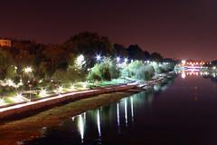 Light Night Light (Alborz Shokrani) Tags: park bridge trees light reflection tree green night river iran reflect rood esfahan isfahan alborz zayandeh zayanderood zayandehrood shokrani alborzshokrani