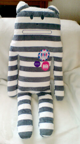 Stripey Cat body pillow from CRAFT HOLIC