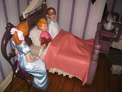 Peter Pan's Flight (Castles, Capes & Clones) Tags: california christmas john michael holidays disneyland peterpan anaheim wendy fantasyland disneylandresort peterpansflight wendydarling johndarling michaeldarling disneyfamilyholidayparty disneyfamilyholidayparty2010