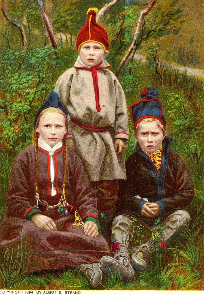 e5be16e6639 Sami children Lappland. After nature. By Algot E. Strand 1894 (saamiblog)