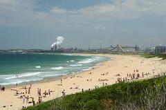 Wollongong City Beach (Mariasme) Tags: summer industry beach sand surf australia nsw juxtaposition scape wollongong portkembla gamewinner pregamewinner fromyourtravels