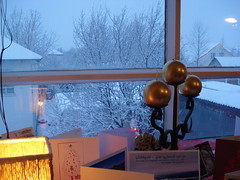 Christmas in snowy wheather (Facts about Iceland) Tags: christmas trees houses snow window iceland traditional culture christmascards tradition icelandic