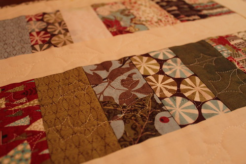 Close up of Christmas Table Runner 1