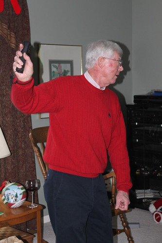 Dad Golfing with Wii