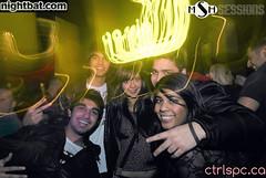 LMFAO211210094 (Sharif Sharifi) Tags: party people music white black blur club vancouver dark drag lights clubbing wideangle fisheye filter sound shutter hiphop rap lmfao strobe 1224 gossip desaturate