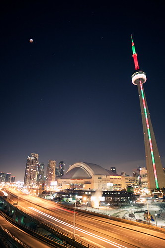 Lunar Eclipse Over the CN Tower