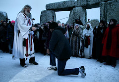 Lance Corporal Paul Thomas is knighted by Arthur Pendragon stonehenge winter solstice 2010 (justyourcofchi) Tags: uk trip travel winter white snow stone canon circle paul arthur model flickr photographer charlotte thomas stones arnold solstice chi wintersolstice lance stonehenge druid farnborough corporal 2010 pendragon heritagekey herritagekey event6125 chiarnold justyourcupofchicom justyourcupofchi