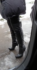 Another visit of Rosina's aunt (Rosina's Heels) Tags: leather high boots thigh heels overknee