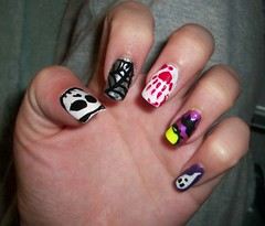 Halloween Nails 1 (Bretagne_Revenge) Tags: skull blood ghost spiderweb nails nailart hallowee