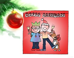 Christmas Greetings to you all! (jump for joy2010) Tags: love artwork joy charlie homemade card hugs greetings norm bestwishes crhristmas
