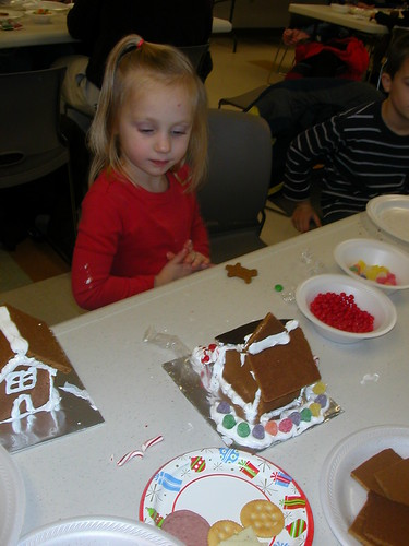 Dec 24 2010 Haley making gingerbread houses