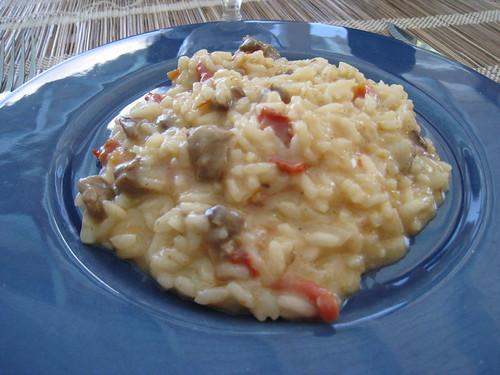 risotto tomates sechées et gigot