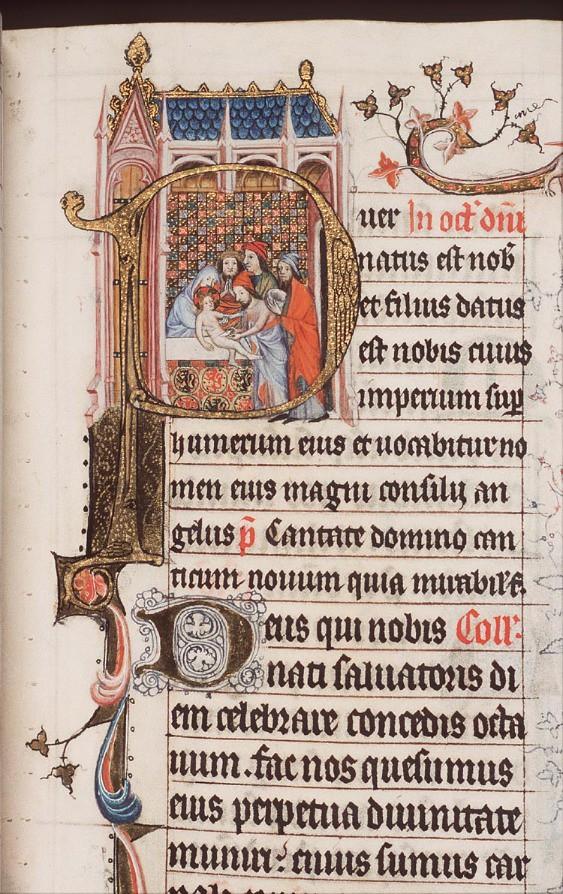 De besnijdenis van het Christus-kind door een priester in de tempel