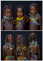 Mwila tribe children - Angola (Eric Lafforgue) Tags: africa haircut tourism dreadlocks kids hair children back african culture tribal dos tribes blackpeople backs tradition tribe ethnic hairstyle cultura tribo huila coiffure angola ethnology tribu tourismo hairdress cheveux herero etnia tnico etnias 3778 angolan ethnie hereros  mumuila   suldeangola mumuhuila mwila      s151439e133555 southangola