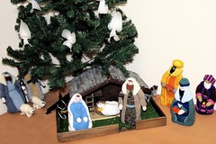 Knitted Nativity | The Whole Picture (rosberond) Tags: christmas blue baby white joseph gold sheep mary jesus donkey gifts kings angels manger knitted stable figures nativity 2010 magi wisemen shepherds myrrh frankincense canonefs1785mmf456isusm